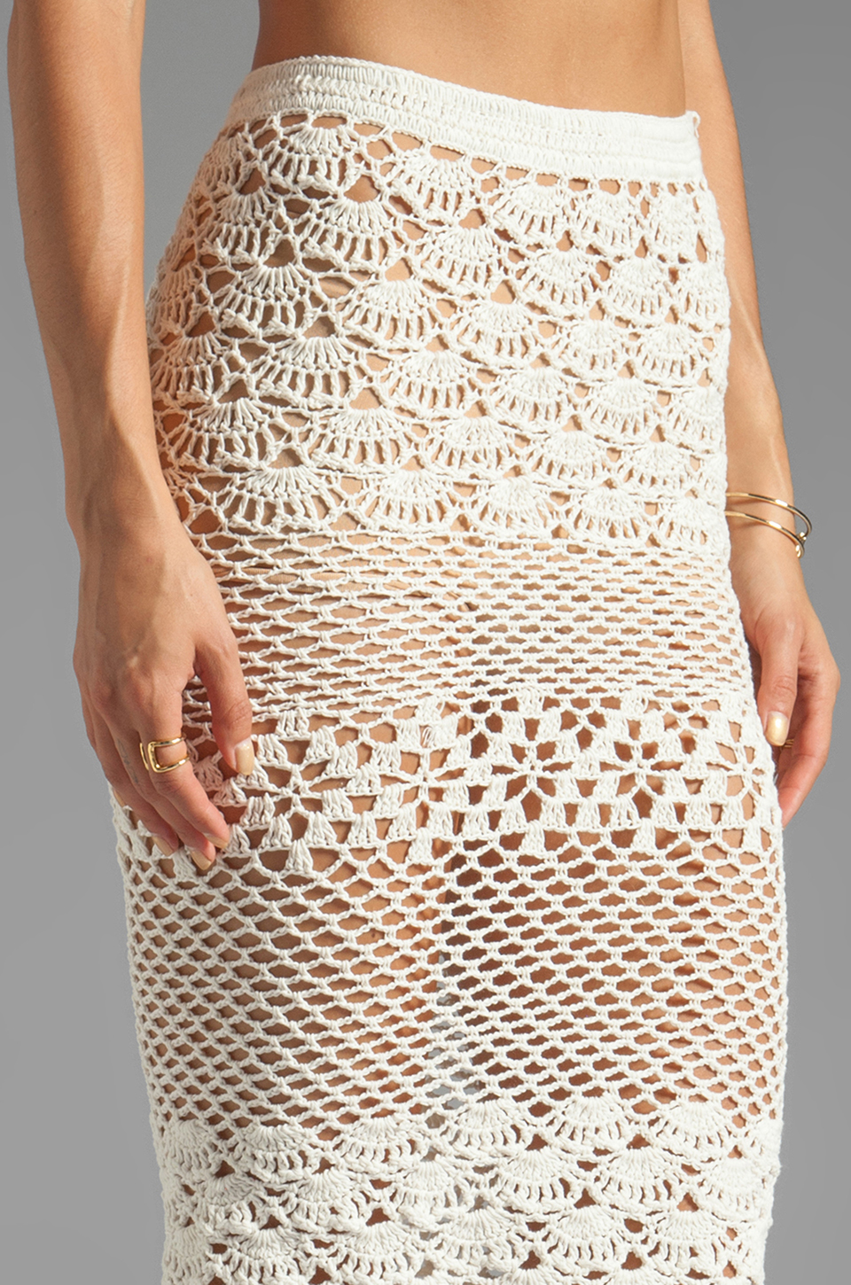 ... & The Gypsy Collective Coconut Crochet Skirt in Off White REVOLVE